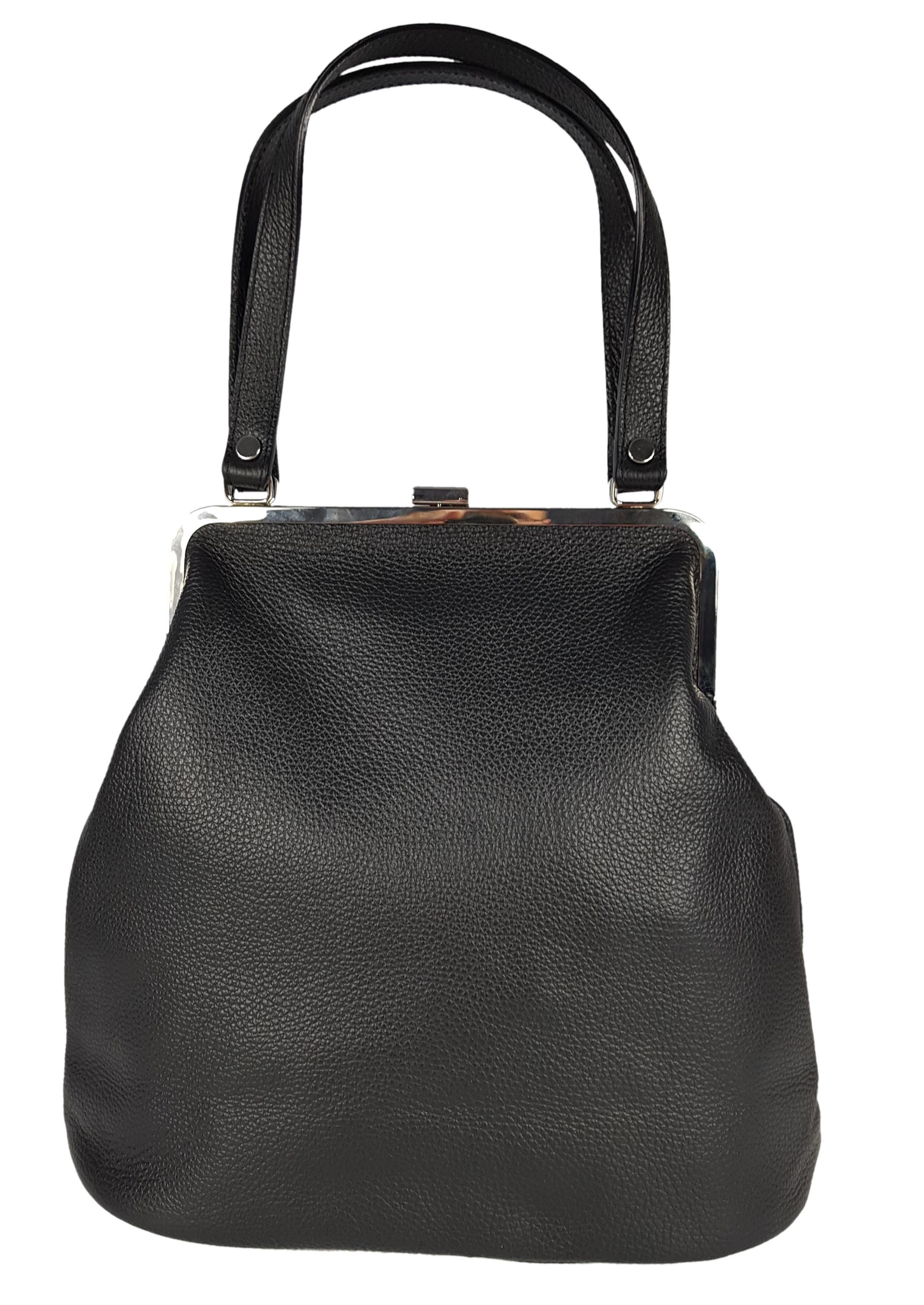 Damska torebka skórzana retro czarna